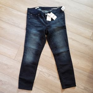 Gap 1969 always skinny mid rise jeans dark wash